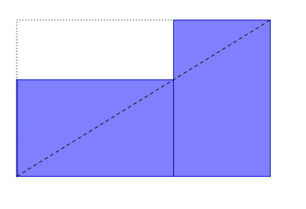 DiagonaleRectangleOr.svg