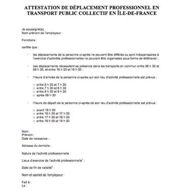 l-attestation-de-deplacement-professionnel-en-transport-public-collectif-en-ile-de-france-obligatoire-pour-se-rendre-dans-les-transports-en-commun-aux-heures-de-pointe_6262128