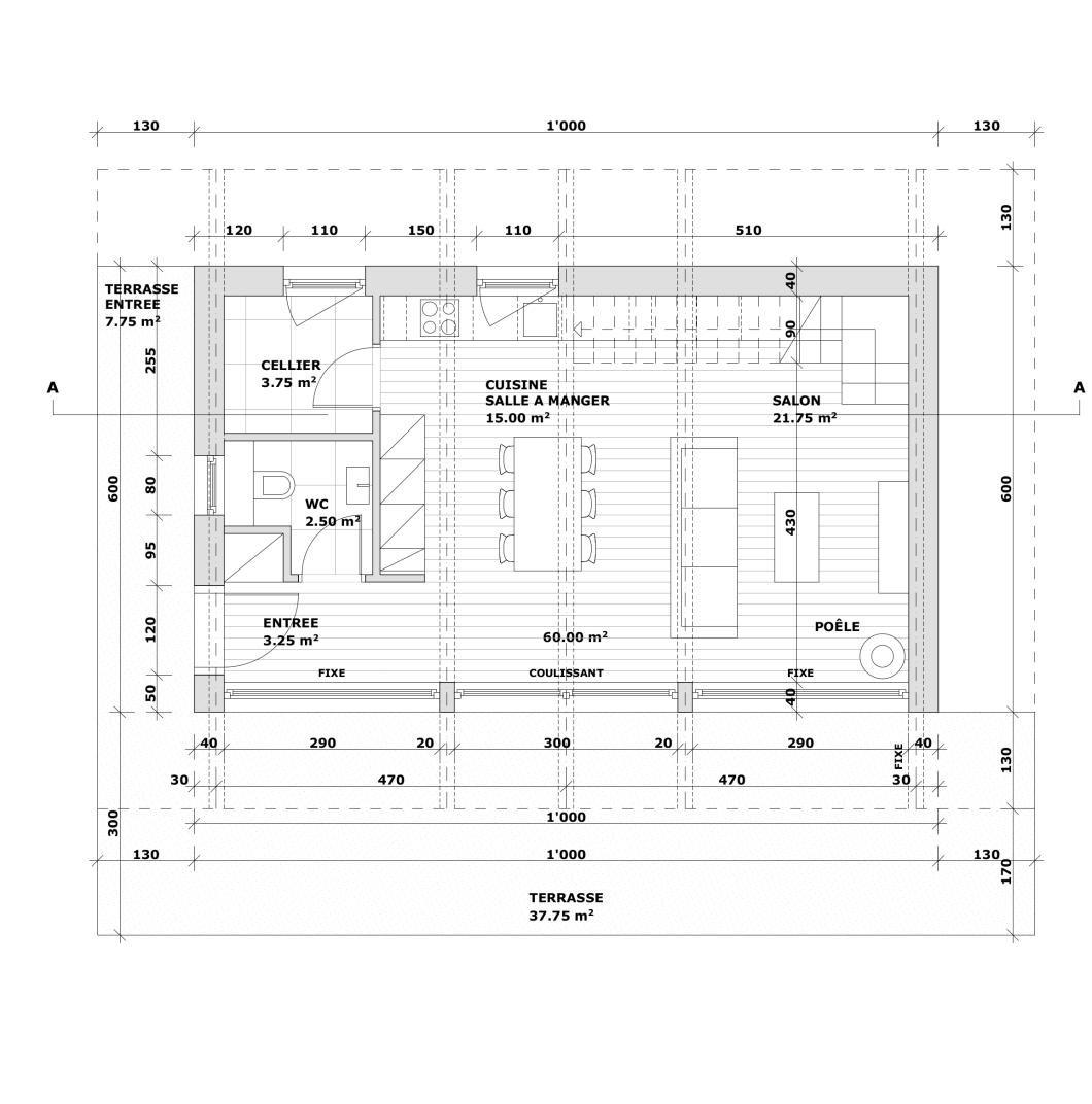 101 maison-Plan-Rez